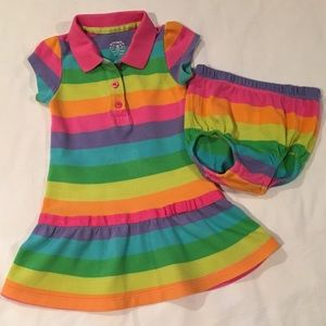 Carter's Colorful, Rainbow-Striped Play Dress